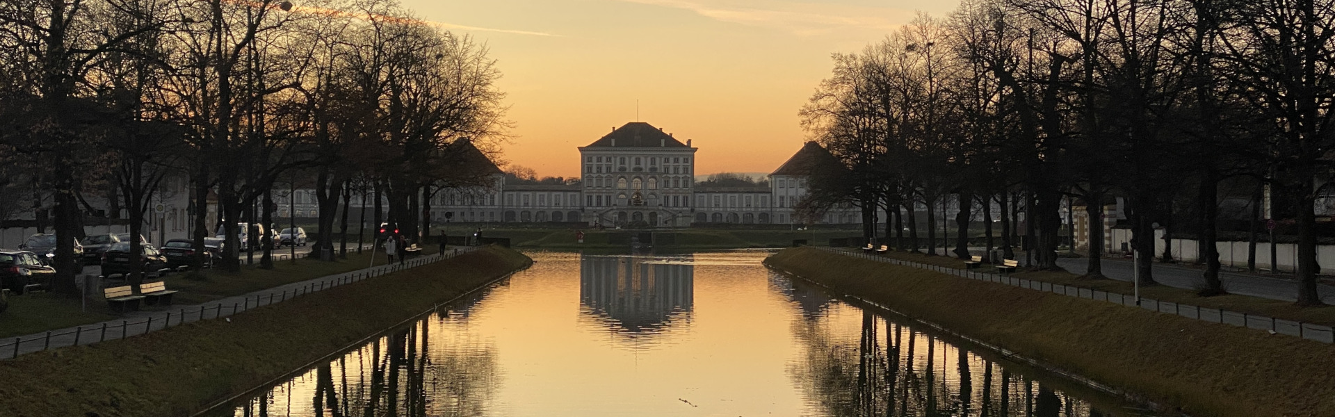 German Evening Classes: Sunset at Nymphenburg Castle