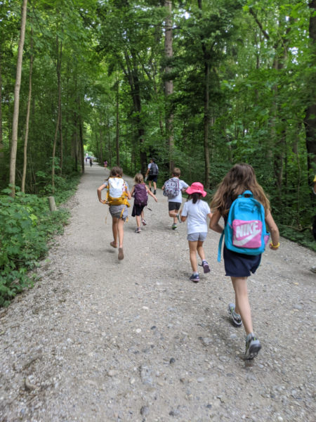 Trip to the Isar with the Children