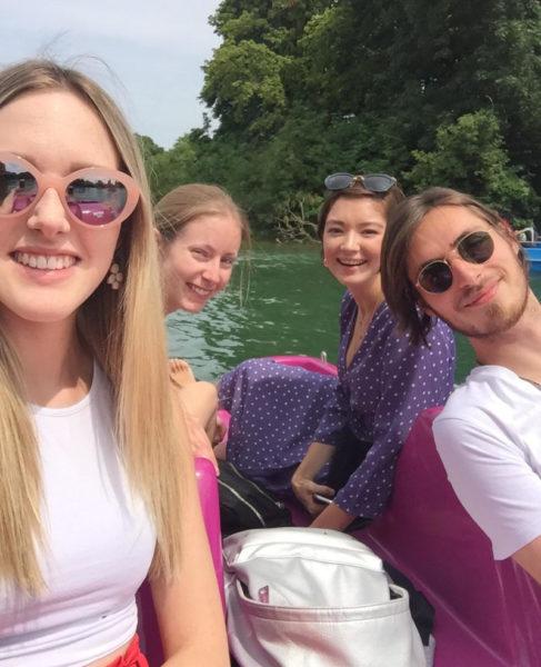 German Summer Courses: Excursion, Boatin in Englischer Garten