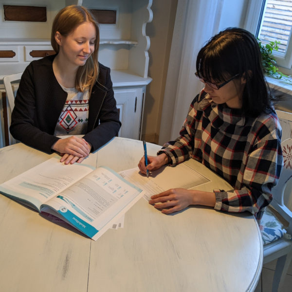 telc writing training with Silke