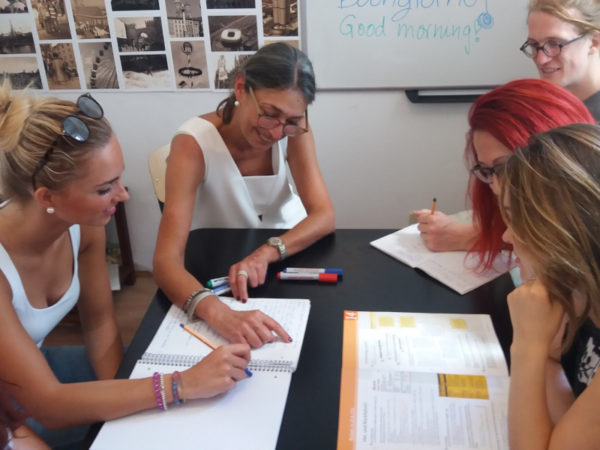 German A2 Intensive Course: Anna with students