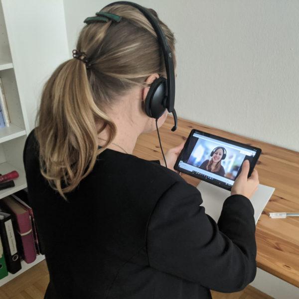 Online Sprachkurs: Einzeltraining mit Silke